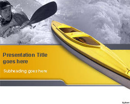 Free Kayak PowerPoint Template | Free Powerpoint Templates | extreme sports | Scoop.it
