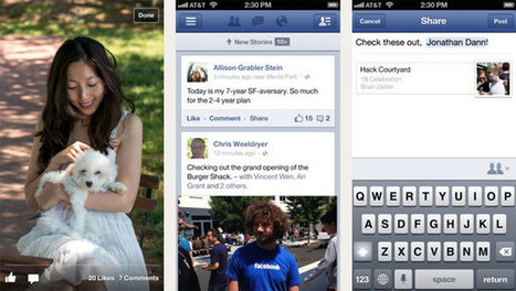 Facebook app update on iPhone gets reconstructed timelines ...   All About Facebook   Scoop.it