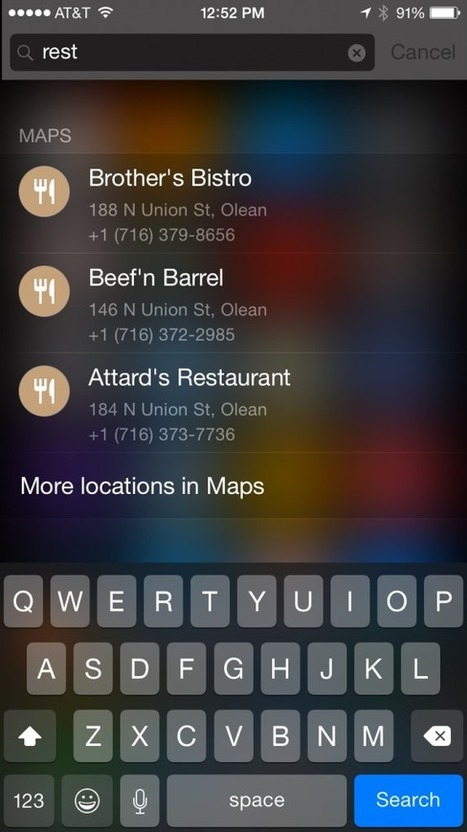 Apple: Local Search Embedded in Spotlight as a Default - Can it Move the Needle?   Local Search News For APM Dentists   Scoop.it