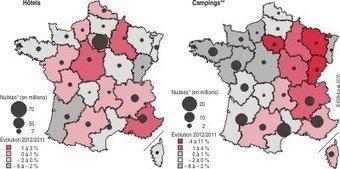 Les hébergements touristiques en 2012 - La fréquentation se - Insee | hébergements touristiques | Scoop.it