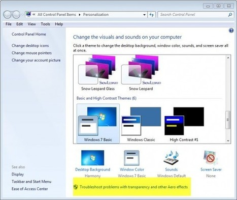 How To Fix Aero Issues In Windows 7 | Time to Learn | Scoop.it