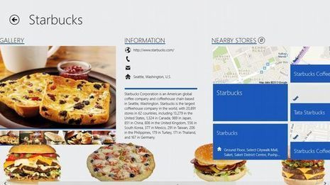 windows 8 app to find fast food places nearby. Black Bedroom Furniture Sets. Home Design Ideas