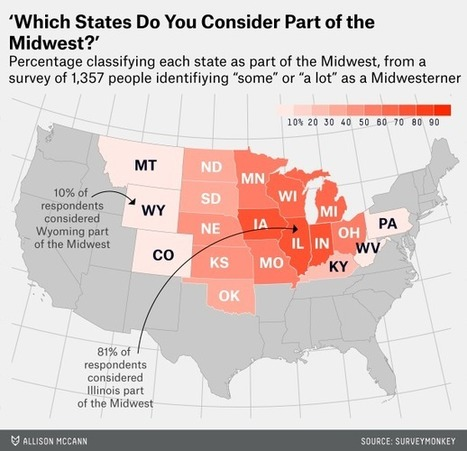 Which States Are in the Midwest? | JWK Geography | Scoop.it
