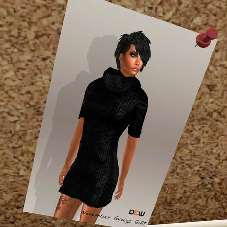 Mesh Sweater Dress Group Gift   Second Life   Second Life Freebies   Scoop.it