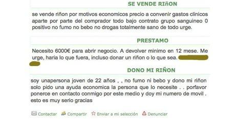 """""""Vends rein par nécessité"""": une phrase qui prolifère en Espagne   Vente d'organes   Scoop.it"""