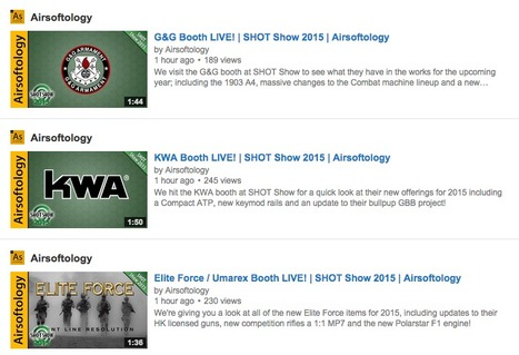 MORE SHOT Show Booth Videos from Airsoftology - on YouTube | Thumpy's 3D House of Airsoft™ @ Scoop.it | Scoop.it