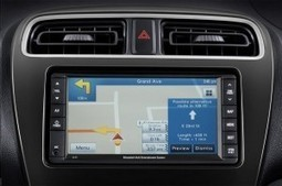 Not a mirage: Yes, there is Navigation in the dash of the Mitsubishi Mirage! - TechnologyTell | The All New Mitsubishi Mirage | Scoop.it