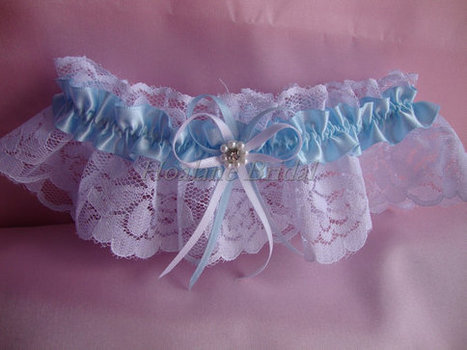 Wedding garter, lace garter, Blue garter, bridal garter, prom garter | Wedding Garters | Scoop.it