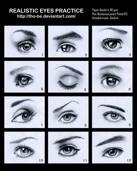 Realistic Eyes Drawing Reference Guide   Art Life   Scoop.it