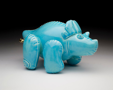 New Ceramic Dino Designs by Brett Kern Made to Look Like Inflatable Toys   Amazing art!   Scoop.it