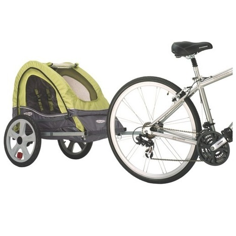 InSTEP Sync Bicycle Trailer-SingleGreen/Gray | Dog Strollers For Small Dogs | Scoop.it