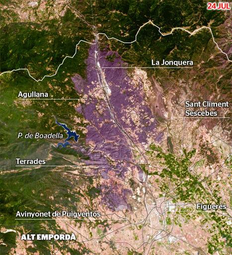 Gràfic interactiu de l'evolució de l'incendi de l'Alt Empordà. | TIG | Scoop.it