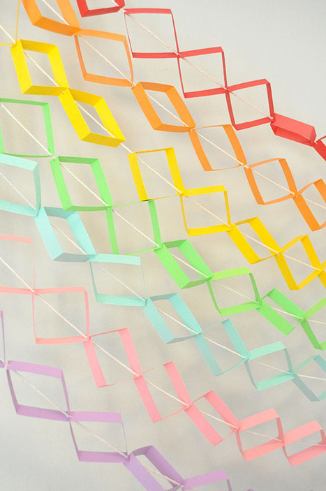 Geometric Garland | DIY pour enfants | Scoop.it