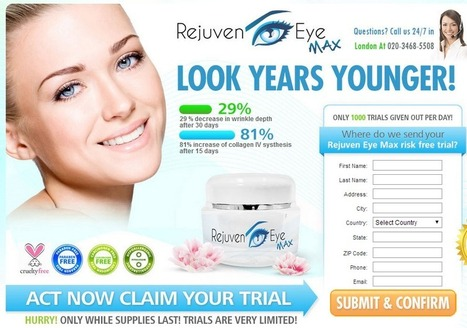 Rejuveneye Review - GET FREE TRIAL SUPPLIES LIMITED!!! | My Skin Pure, Natural And Beautiful. | Scoop.it