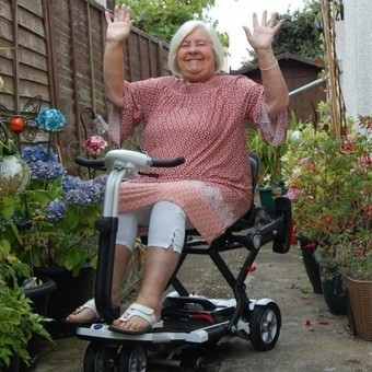 Personality Pat from Clacton-on-Sea receives £2,000 TGA mobility scooter by winning #iLoveMyTGA competition  — News — TGA Mobility | Disability and Mobility | Scoop.it