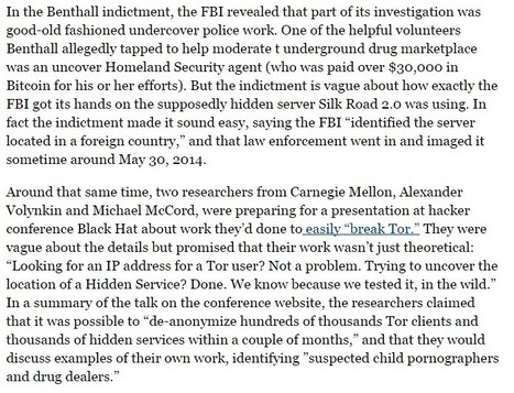 How Did The FBI Break Tor? | Criminology and Economic Theory | Scoop.it