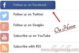 Add Expand Social Follow Me Widget To Blogger/WordPress - Blogs Daddy   Blogger Tricks, Blog Templates, Widgets   Scoop.it