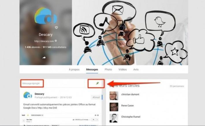 Google+ : Faites la promotion d'une publication en l'épinglant | TIC et TICE mais... en français | Scoop.it