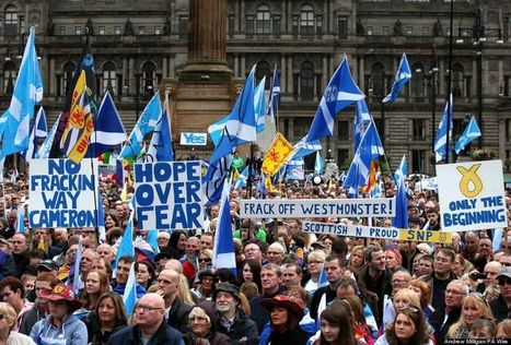 These Pictures Show Scottish Independence Supporters Aren't Going Anywhere   scottish referendum   Scoop.it