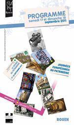Programme Journées du Patrimoine 2011 | Grand-Rouen | Scoop.it