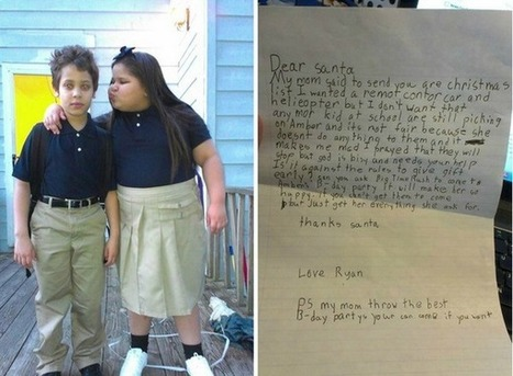 Twitter / PeopIe: Boy, 8, wrote a letter asking ... | Depression, Bullying, Self Harm. | Scoop.it