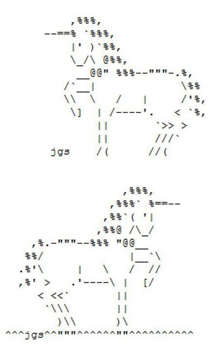 The Legendary, Virginal Unicorn in ASCII Text Art | ASCII Art | Scoop.it