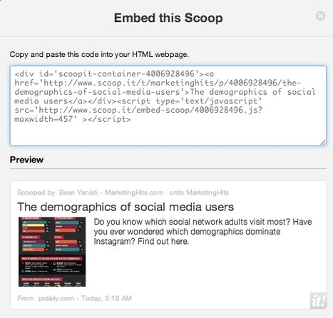 Embed Your Scoop.it Stories Anywhere | MarketingHits | Scoop.it