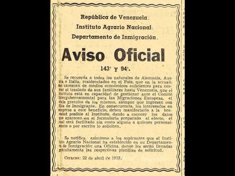 VES: Aviso de cuando Venezuela era un país de inmigrantes   Investigación Misterio   Scoop.it