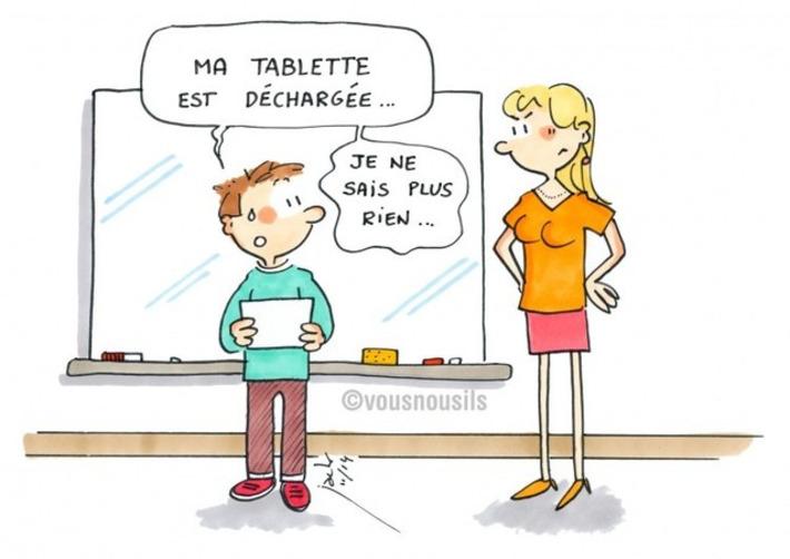 Tablettes à l'école : batterie déchargée = zéro pointé ?   TIC et TICE mais... en français   Scoop.it