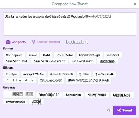 Añade efectos de texto a tus tuits con esta extensión de Chrome | Educacion, ecologia y TIC | Scoop.it