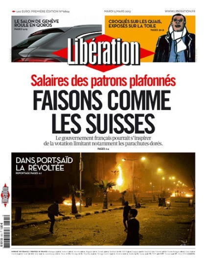 Salaires des patrons plafonnés - Liberation | #Road to Dignity | Scoop.it