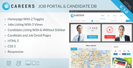 CAREERS – Job Portal & Candidate Database (HTML) (Miscellaneous) | Best HTML Themes | Scoop.it