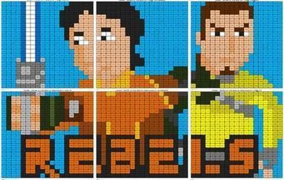 Star Wars Rebels- Subtraction Mural | Coloring Squared | Scoop.it