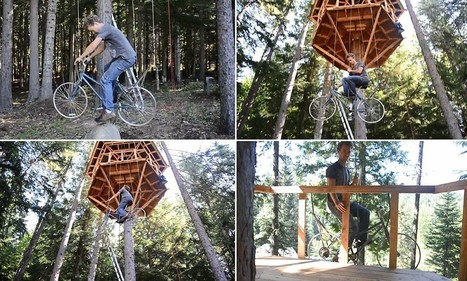 Bicycle-powered elevator lets you cycle up to 30-foot high treehouse | Cycles | Scoop.it