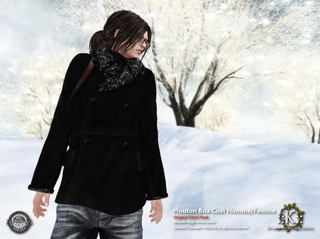 ::K::: ::K:: Mouton Boa Coat Homme/Femme@FaMESHed   Style of LIFE   Scoop.it