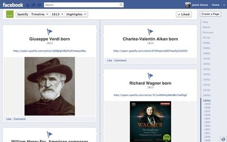Spotify's Facebook Timeline chronicles over 1,000 years of music | EduTech Roundup | Scoop.it