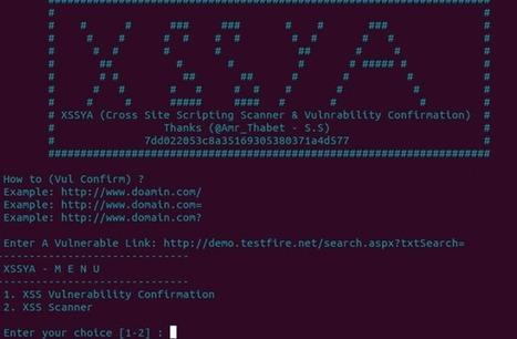 XSSYA Cross Site Scripting And Vulnerability Confirmation Scanner - Hackers Online Club (HOC)   XSSYA-- (Cross Site Scripting Scanner & Vulnerability Confirmation )   Scoop.it