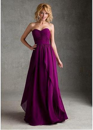 [109.99] Elegant Chiffon Sweetheart Neckline Natural Waistline Floor-length A-line Bridesmaid Dress - Dressilyme.com | braidsmaid dresses | Scoop.it