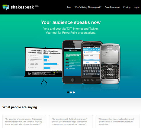 Shakespeak - mobile interaction with you audience during presentations | Digital Presentations in Education | Scoop.it