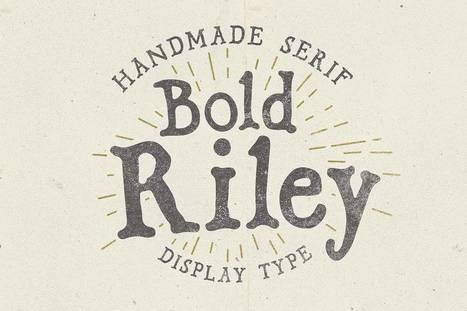 Bold Riley handmade serif display font | My Typefaces | Scoop.it