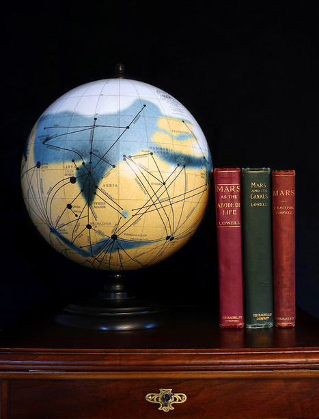 "Traditionally Handcrafted Globes Are 3D Visualizations of ""Martian Maps"" on Mars 