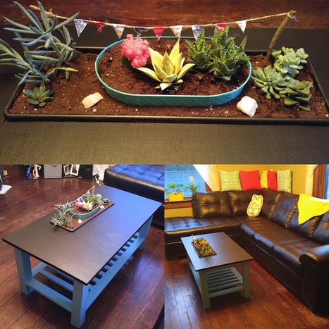 DIY Coffee Table Has a Colorful Planter Cleverly Built Into Its Surface | Le It e Amo ✪ | Scoop.it
