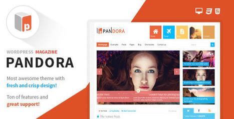 Pandora - Responsive WordPress Magazine Theme Download | 001 | Scoop.it