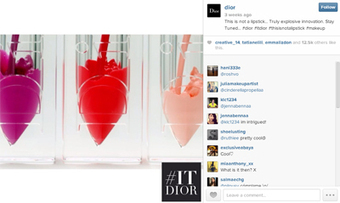 Dior uses multifaceted digital campaign to launch new lip product | Marques Premiums & Marketing Digital | Scoop.it