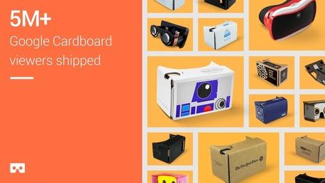 Réalité virtuelle : Google annonce 5 millions de Cardboard distribués | Vous avez dit Innovation ? | Scoop.it