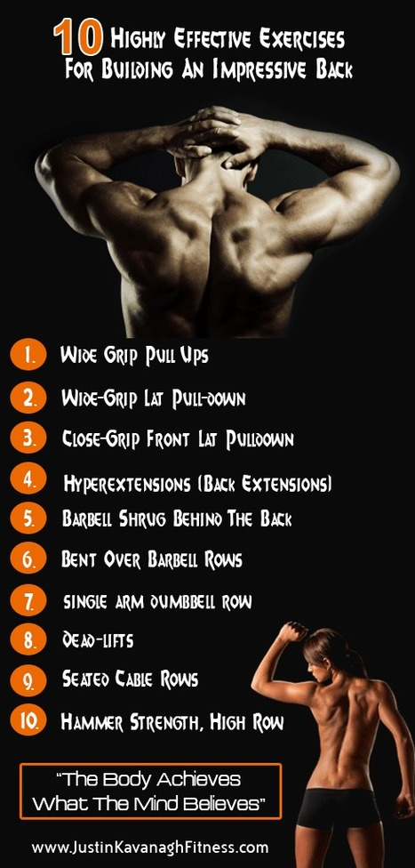 10 Highly Effective Exercises For Building An Impressive Back | Living A Healthy Active Lifestyle | Scoop.it
