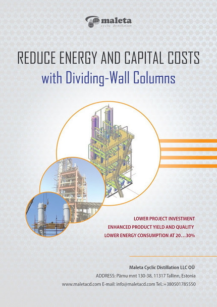 #Dividing #Wall #Columns  - Reduce Energy and Capital Costs with Dividing-Wall… | Distillation Column | Scoop.it