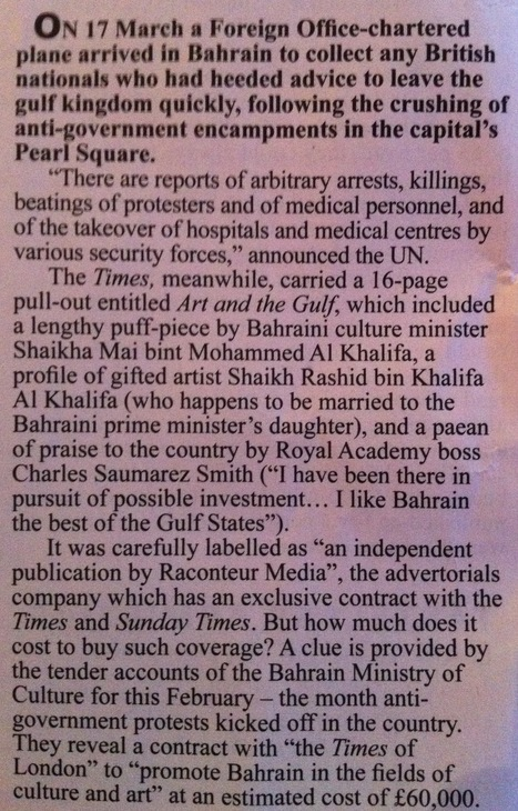 The Times of London deal with Bahrain Government - Private Eye | Bahrain Justice & Development Movement حركة البحرين للعدالة والتنمية | Human Rights and the Will to be free | Scoop.it