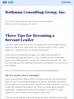 Volume 11 #1: Three Tips for Becoming a Servant Leader   Agile & Lean Development   Scoop.it