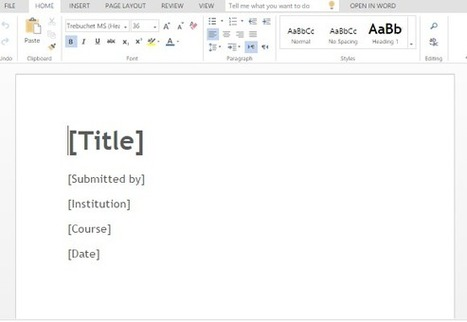 Free Literature Review Word Template | Free Microsoft Office Templates | Scoop.it